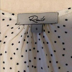 Rails Tops - Rails Bretton top white with small black stars